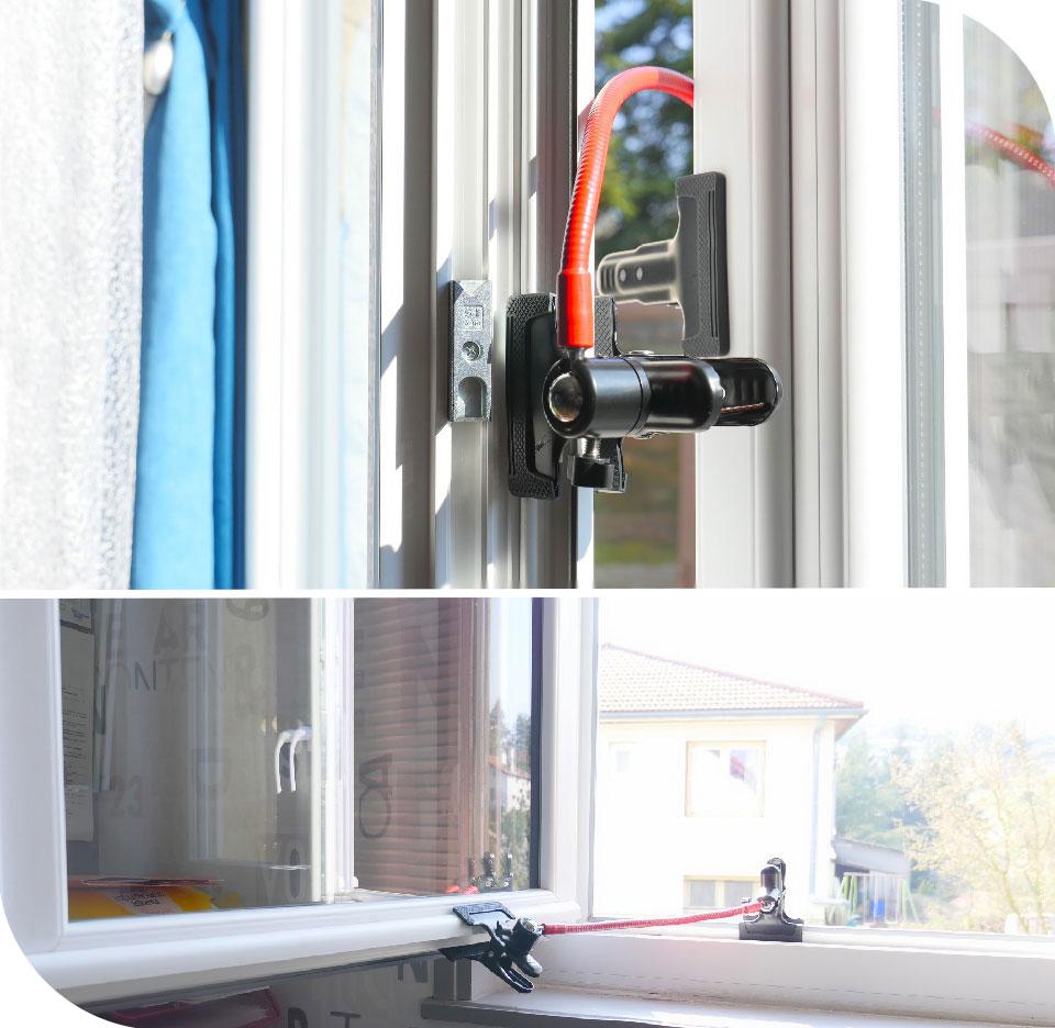 Adjustable opening window blocker
