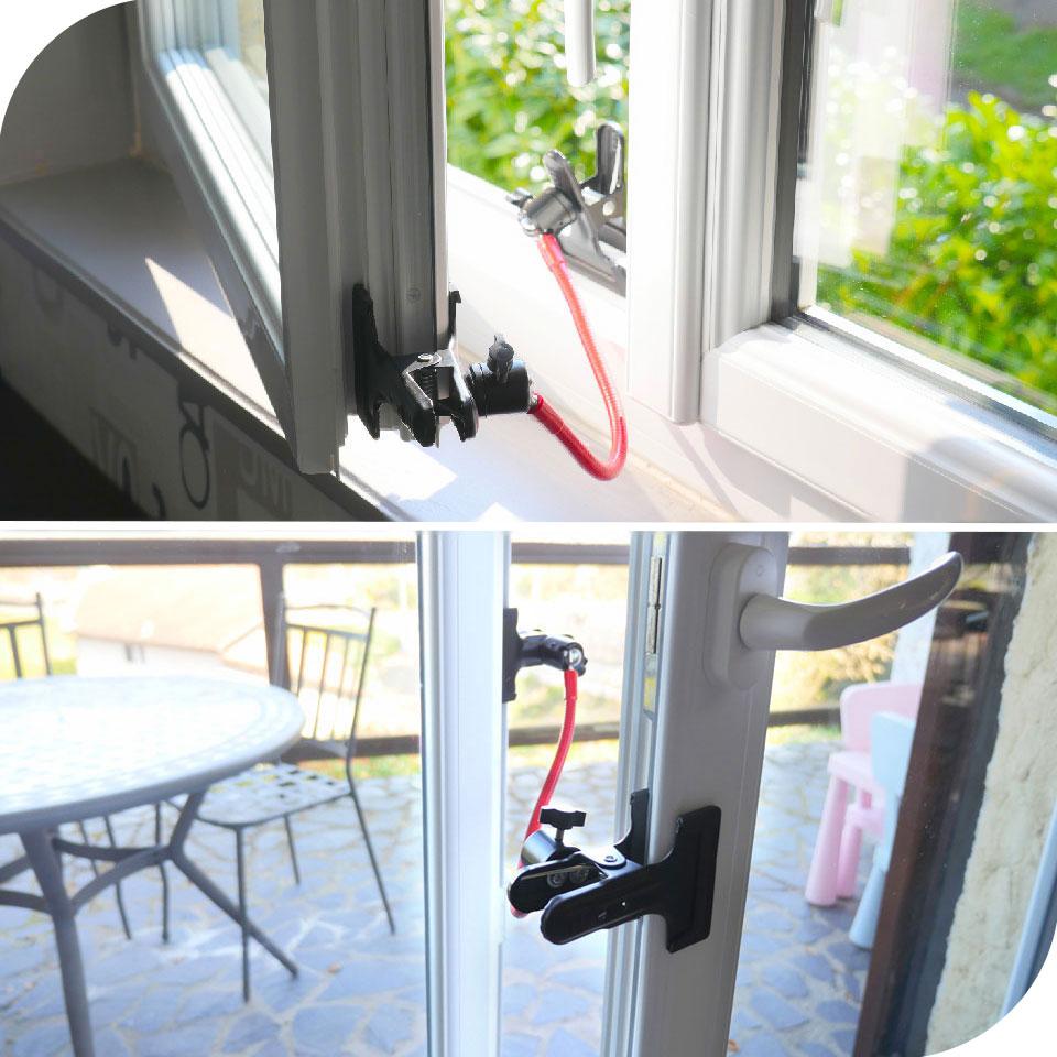 Entrebâilleur adaptable porte et fenêtre pour courant d'air